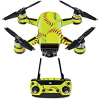 Skin for DJI Spark Mini Drone Combo - Softball Collection| MightySkins Protective, Durable, and Unique Vinyl Decal wrap cover | Easy To Apply, Remove, and Change Styles | Made in the USA