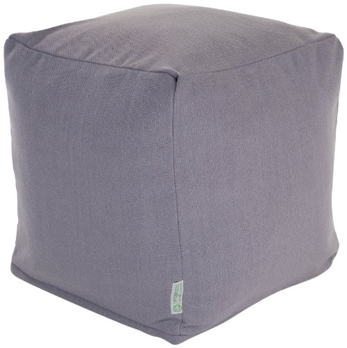 Bean Cube (Majestic Home Goods Wales Indoor / Outdoor Bean Bag Ottoman Pouf Cube, 17