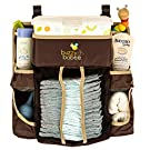Buzzy Babee Diaper Change Organizer, Brown/Coffee Perfect Diaper Caddy & Playard Organizer