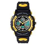 Hiwatch Kids Watches Boys Girls Waterproof Sports Digital Wrist Watch for Youth Yellow