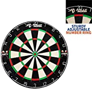 """Rally and Roar Dartboard Game with Mounting Brackets, 18"""" - Bristle Dart Board for Bars, Arcades, Billiard Roo"""