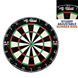 "Dartboard Game with Mounting Brackets, 18"" by Rally and Roar - Bristle Dart Board for Bars, Arcades, Billiard Rooms,..."