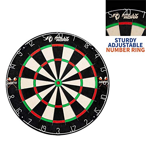 "(Dartboard Game with Mounting Brackets, 18"" by Rally and Roar - Bristle Dart Board for Bars, Arcades, Billiard Rooms, Bedroom, and Game Room - Pro, Recreational, or Competition)"
