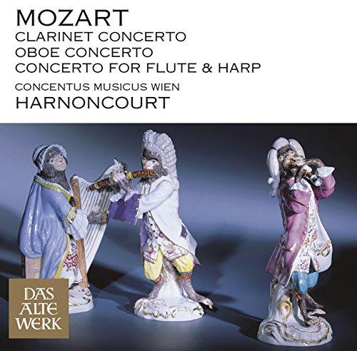 Mozart : Clarinet Concerto, Oboe Concerto & Concerto for Flute and Harp (DAW 50) Concerto Flute Harp