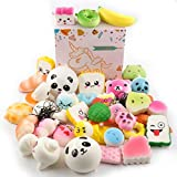 EXSPORT 20 Pack Squishy Package Slow Rising Squishies Stress Relief Kawaii Jumbo Medium Mini Soft Squishies Key Chains Party Favors(Random)
