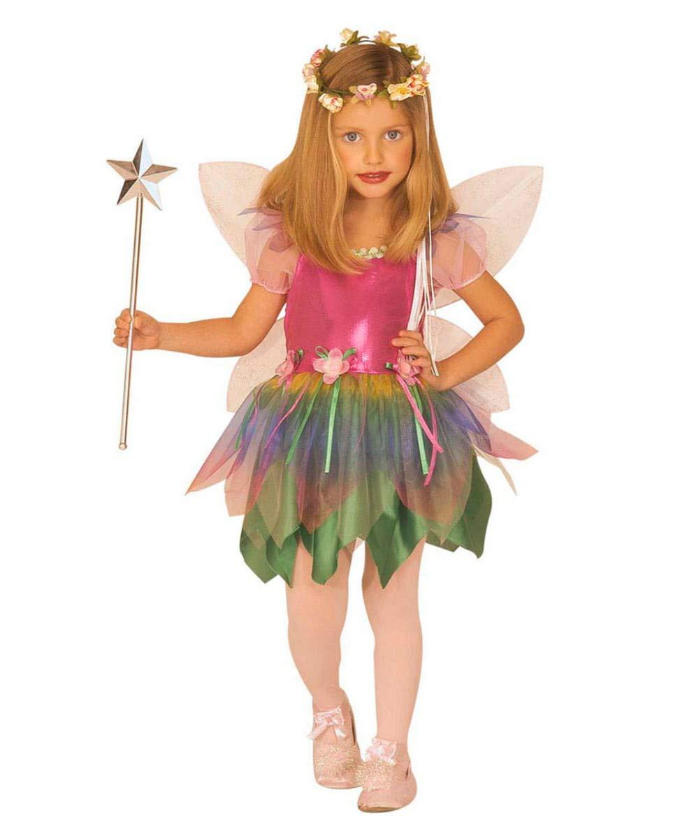 Horror-Shop Lili die Regenbogenfee Regenbogenfee Regenbogenfee als Märchenkostüm für Kinder S 4529e4