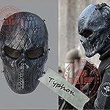 2163newm06tácticas Negro Terror Máscaras de calavera Full Face Batalla al aire última intervensión Equipo Knight Capitán Halloween Party