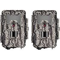 Bushnell HD Aggressor Trophy Cam HD 24MP Low-Glow Trail Camera, Records 1080p Video with Sound (2-Pack)