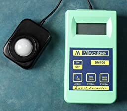 Milwaukee Instruments MW700 Standard Portable Lux Meter, 0 DegreeC to 50 DegreeC Temperature Range, 1 Lux Resolution