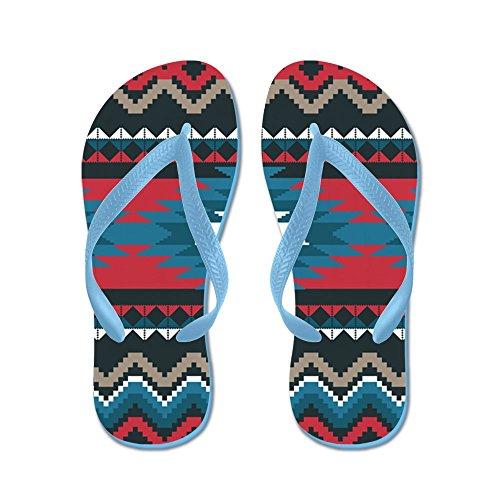 Patroon In Cafepress Native - Flip Flops, Grappige String Sandalen, Strand Sandalen Caribbean Blue