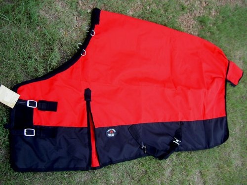 70'' 2000D Turnout Waterproof Horse SHEET Blanket Light Weight Red 701 by Challenger