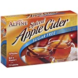 Alpine Spiced Apple Cider Sugar Free Instant Drink Mix, 10-Count .14-Ounce Pouches (Pack of 12)