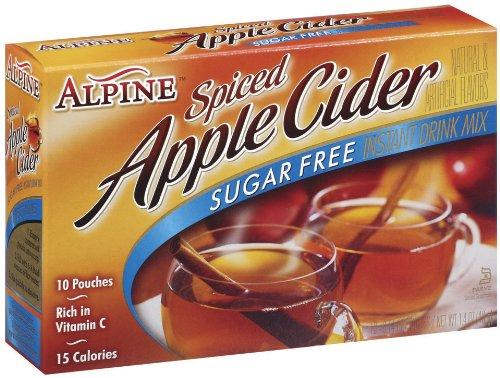 Wal Mart 10k - Alpine Spiced Apple Cider Sugar Free Instant Drink Mix, 1.68-Ounce Pouches (Pack of 12)