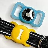 [2 Pack] Bone Style Dog Collar Holder Case