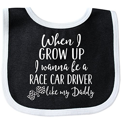 (Inktastic - Future Race Car Driver Like Daddy Baby Bib Black/White 2c4ad)