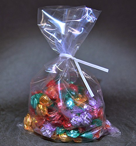 Clear Candy Bags With Ties - 3