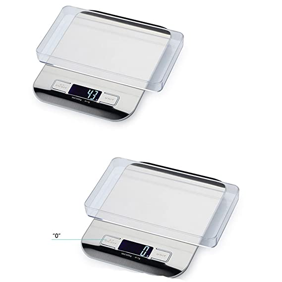 lerda pe Digital Kitchen Scale 5kg Mini balanzas electrónicas con Pantalla LCD, Baterías operadas, Plateadas: Amazon.es
