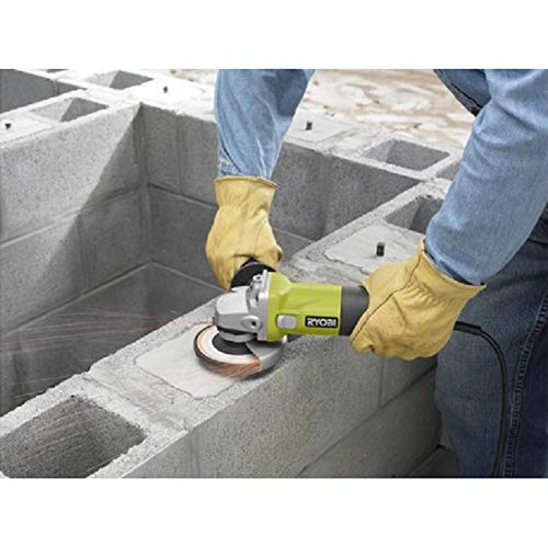 Ryobi ZRAG403G 5.5 Amp 4-1 2 in. Angle Grinder Green Renewed