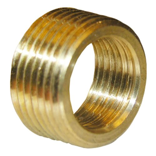 LASCO 17-9235 3/4-Inch Male Pipe Thread by 1/2-Inch Female Pipe Thread Brass Face (Pipe Face Bushing)