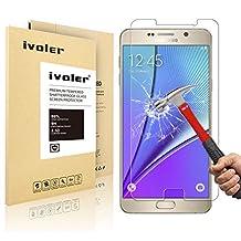 Galaxy Note 5 Screen Protector- iVoler® Premium Tempered Glass Screen Protector for Samsung Galaxy Note 5- 0.2mm Ballistics Glass, 2.5D Round Edge, 9H Hardness Featuring Anti-Scratch, Anti-Fingerprint, Bubble Free- Lifetime Replacement Warranty