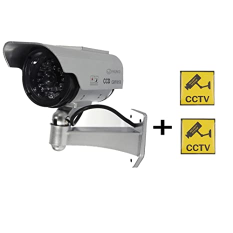 JC falsa imitación de seguridad BULLET cámara Dummy cámara con 30 infrarrojos iluminación LED alerta de