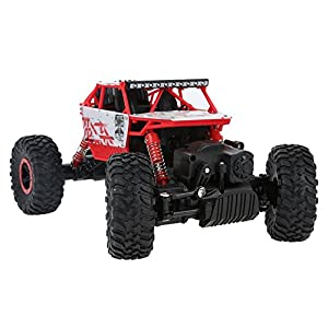 Rc Cars,KingPow Remote Control Car 2.4GHz Electric Rc Rock Crawler Radio Control High Speed 25 killometer/h Racing Off Road Rc Truck - Red
