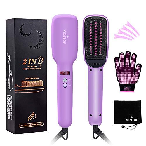 MEXITOP Ionic Hair Straightener Crescent Brush Comb