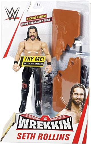 "Brand New * WWE SETH Rollins wrekkin /""Figure Avec Table"