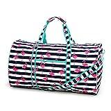 High Fashion 21 in Print Duffle (Flamingo Stripe - No Embroidery)