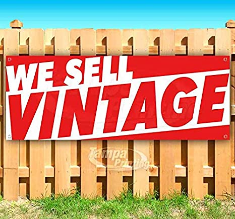 Advertising Store Vintage Shop Now Open Extra Large 13 oz Heavy Duty Vinyl Banner Sign with Metal Grommets Flag, Many Sizes Available New