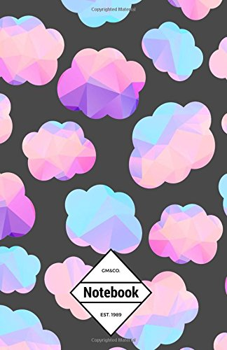 """GM&Co: Notebook Journal Dot-Grid, Lined, Graph, 120 pages 5.5""""x8.5"""": Low Polygon Cloudy Pastel Cloud ebook"""