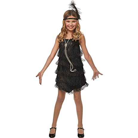 Amazon.com: Black Flapper Girl Kids Costume: Clothing