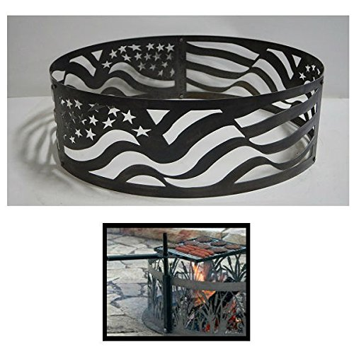 Pd Metals Steel Campfire Fire Ring American Flag Design