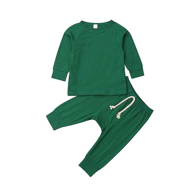 Amazon.com: Conjunto de pijama para bebé, unisex, con ...