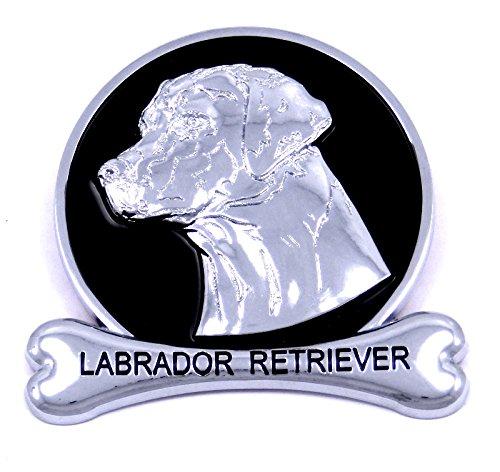 Labrador Retriever Chrome Dog Medallion Car Emblem Logo Badge Breed Ornament Lab Yellow Chocolate Black Decal Gift Truck - Accessories Labrador Decorative Retriever
