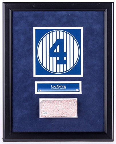 - LOU GEHRIG #4 OLD YANKEE STADIUM NY GAME USED MONUMENT PARK BRICK PLAQUE FRAME