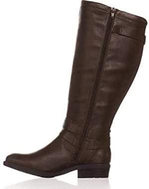 BareTraps Womens Yalina2 Wide Calf Faux Leather Riding Boots