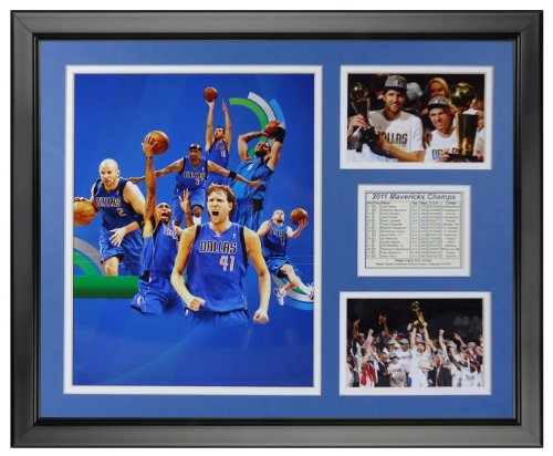 Legends Never Die 2011 Dallas Mavericks Champions Framed Photo Collage, 16