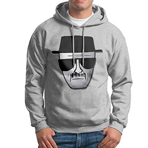 Breaking Bad Costumes For Sale (JXMD Men's Breaking Bad Heisenberg Logo Sweatshirt Ash Size S)