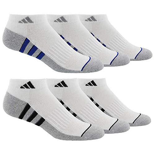 adidas Men's Athletic Cushioned Low Cut Socks (6-Pair)