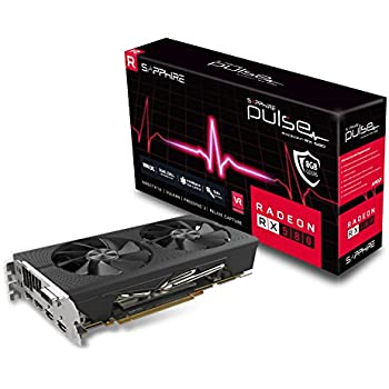 Sapphire Technology Technology Radeon 11265-05-20G Pulse RX 580 8GB GDDR5 Dual HDMI/ DVI-D/ Dual DP OC with Backplate (UEFI) PCI-E Graphics Card Graphic Cards