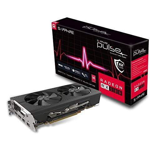 Sapphire 11265-05-20G Radeon Pulse RX 580 8GB GDDR5 Dual HDMI/ DVI-D/ Dual DP OC with Backplate (UEFI) PCI-E Graphics Card Graphic Cards