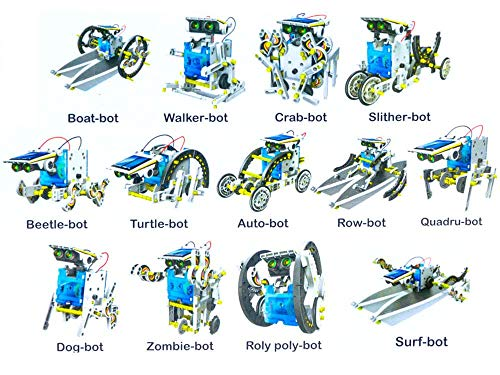 FunBlast Solar Robot Kit; 13 in 1 Learning Educational Kids Station, Robot Toy Game| DIY Toy for Boys|Girls.