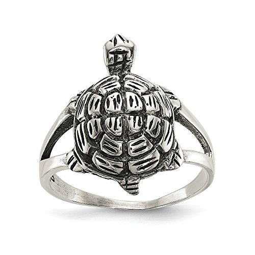925 Sterling Silver Turtle Band Ring Size 8.00 Sea Shell Life Fine Jewelry Gifts For Women For Her