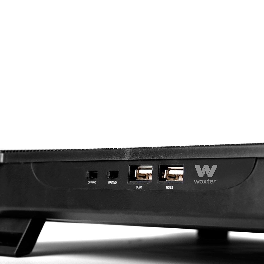 Woxter Cooling Pad 1560 - Base refrigeradora para ordenador portátil, color negro: Amazon.es: Informática