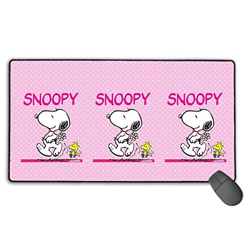 Large Mouse Pad Pink Snoopy Gaming Mousepad for Computer PC and Keyboard Laptop-29.5x15.7x0.1IN (Snoopy Computer Mouse)