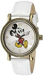 Disney Women's W001871 Mickey Mouse Analog Display Analog Quartz White Watch