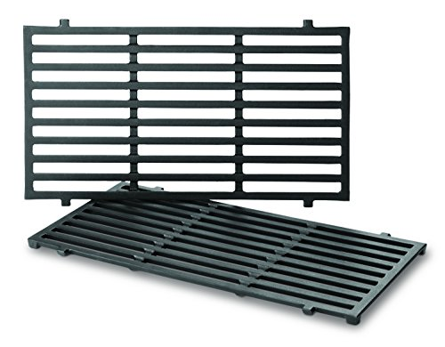 Weber 7637 Porcelain-Enameled Cooking Grates for Spirit 200 Series Gas Grills (2 Grates/pack) (17.5 x 10.2 x 0.5) (Grates Cooking Weber Set)