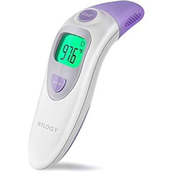 Baby Ear and Forehead Thermometer, Hylogy Digital Medical Infrared Thermometer Professional 4 in 1 Suitable for Baby, Infants, Toddlers, Adults, ...