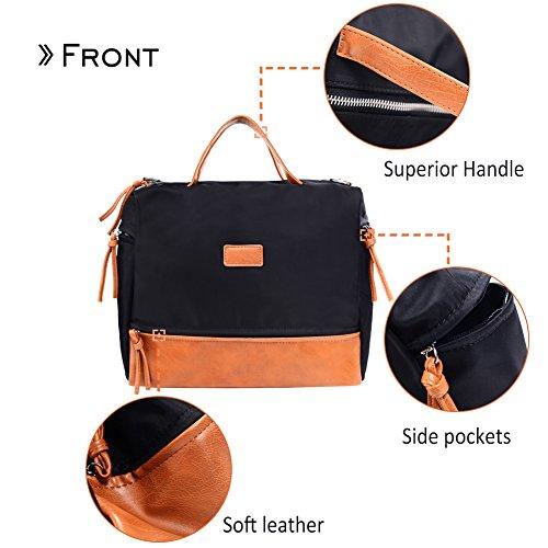 Large Handbag Fashion Shoulder Bag Travel Tote Bag For Women (Brown) by Vintga (Image #3)